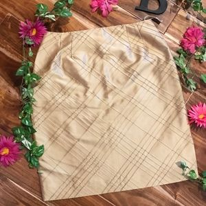 Talbots Skirt size 12 Gold Silk Shantung Straight